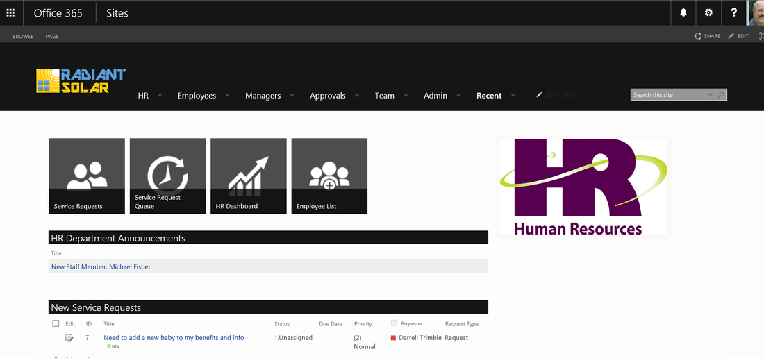 Human Resources Portal Template For Office 365 And